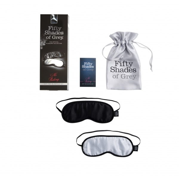 FSOG NO PEEKING - SOFT BLINDFOLD TWIN PACK