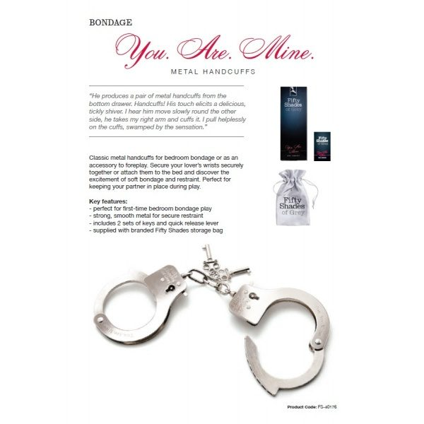 FSOG YOU ARE MINE - METAL HANDCUFFS