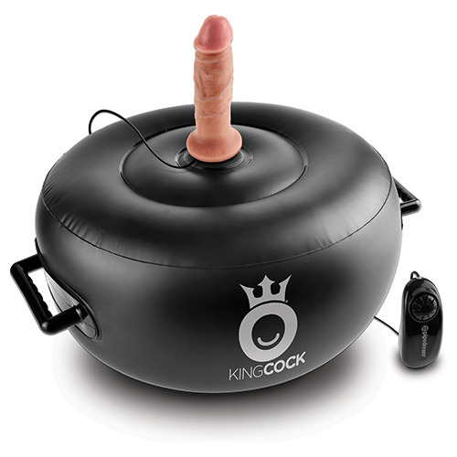 King Cock - Vibrating Inflatable Hot Seat With 2 King Cock Attachments