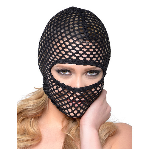 Fetish Fantasy Series - Fishnet Hood Black