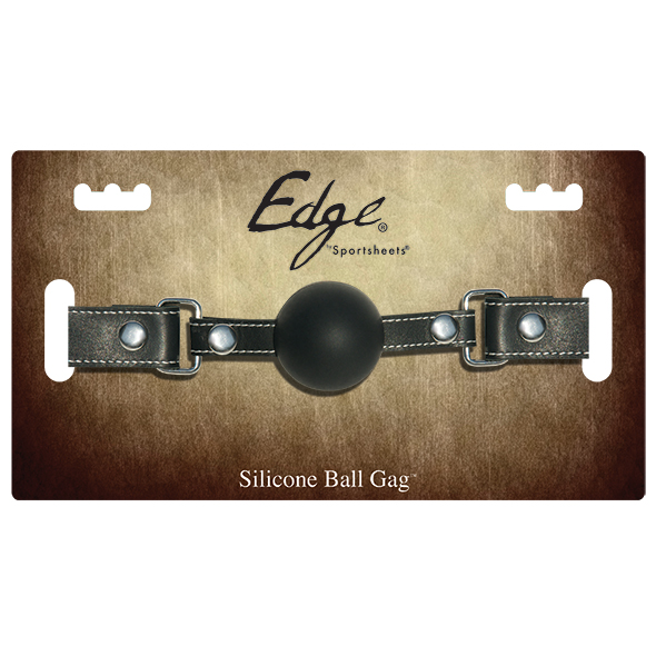Sportsheets - Edge Silicone Ball Gag in Black