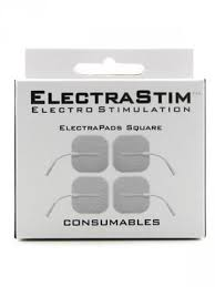 ElectraStim Electro Sex Toy- 4 X Square Self Adhesive Pads - 5cm X 5cm