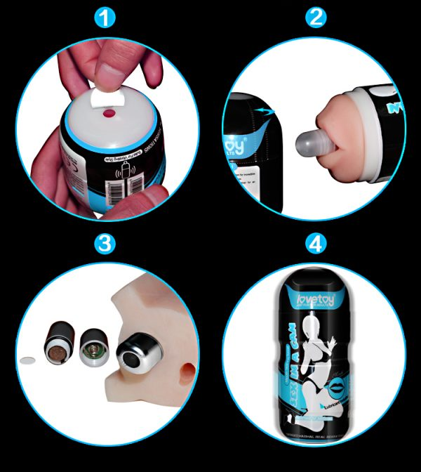 Sex In A Can Vibration Mouth Tunnel