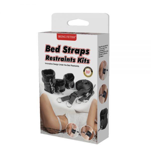 Being Fetish Black Bed Straps Restraint Kit