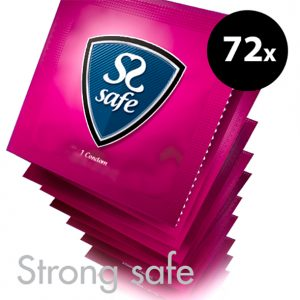 Safe Strong Condoms 72 Pcs