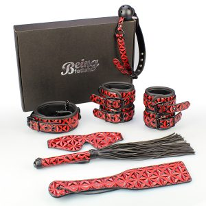 7 Piece Bondage Red Diamond Submissive Special Bondage Kit