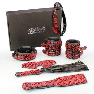 7 Piece Bondage Red Diamond Submissive Special Bondage Kit