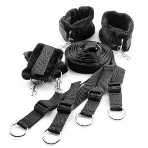 Being Fetish Black Bed Straps Restraint Kit