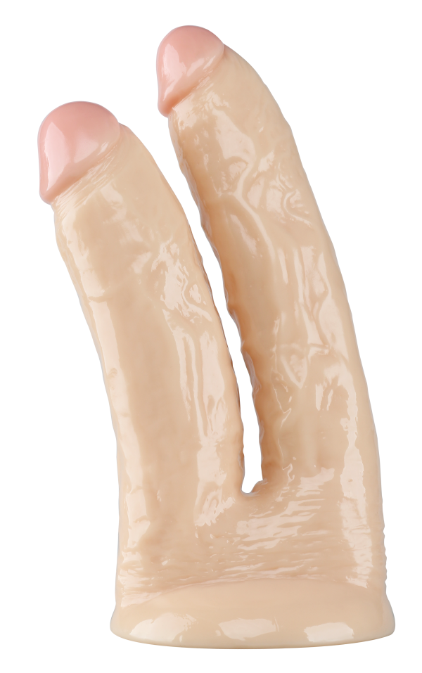 Double Veined 10 Inch Suction Cup Double Dildo