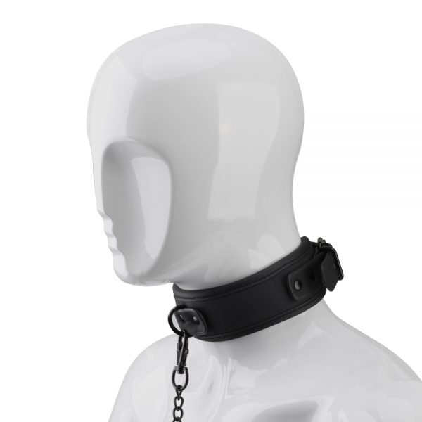 Being Fetish Faux Leather Collar and Chain Lead