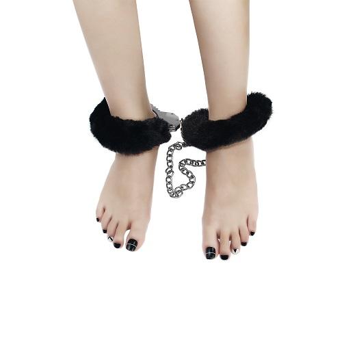 Fetish Pleasure Fluffy Leg Cuffs