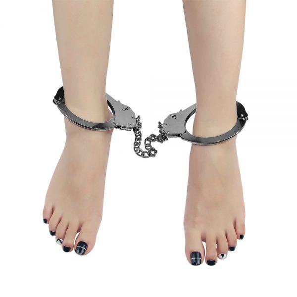 Fetish Pleasure Metal Leg Cuffs