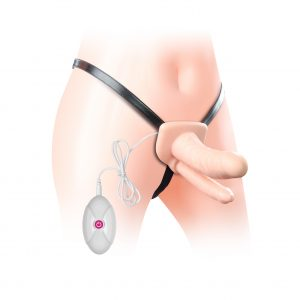 Vibrating Unisex Hollow Double Penetrator Strap On