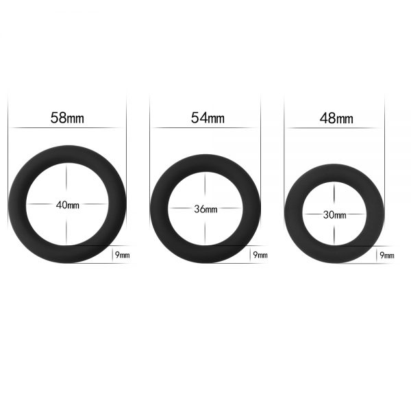 Power Plus Soft Silicone Tripple Snug Cock Ring Set