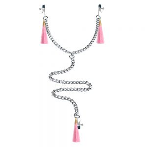 Nipple Clit Tassel Clamp With Chain