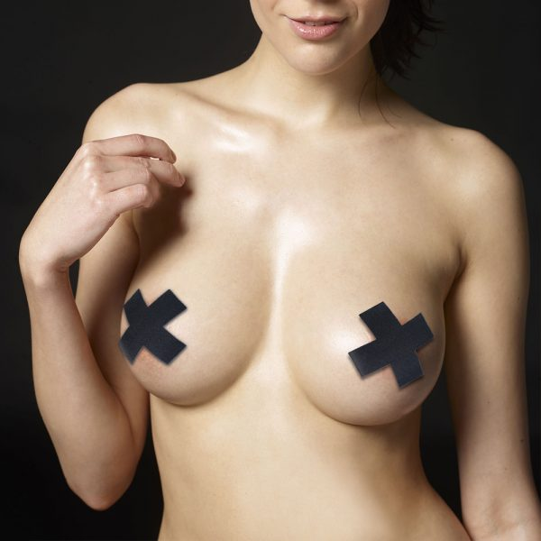 Cross Pattern Nipple Pasties (2 Pack)