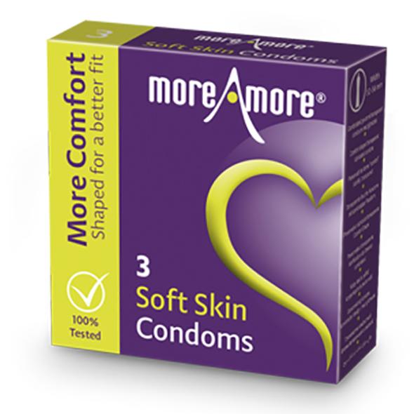 MoreAmore - Condom Soft Skin 3 Pieces