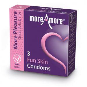 MoreAmore - Condom Fun Skin 3 Pieces