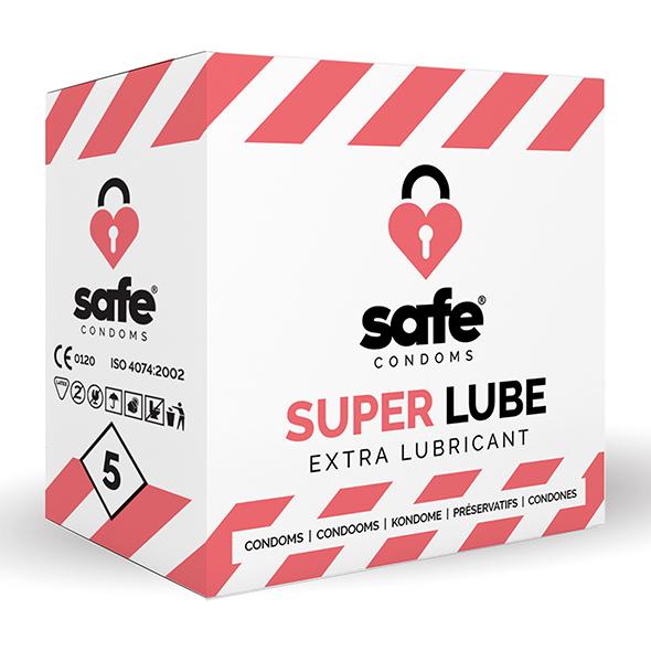 Safe - Super Lube Condoms Extra Lubricant 5 Pcs