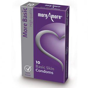 MoreAmore - Basic Skin Condoms 10 Pieces